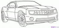 Chevy Camaro карандашом