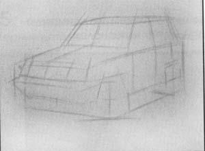 Рисуем машину Mitsubishi Pajero Pinin