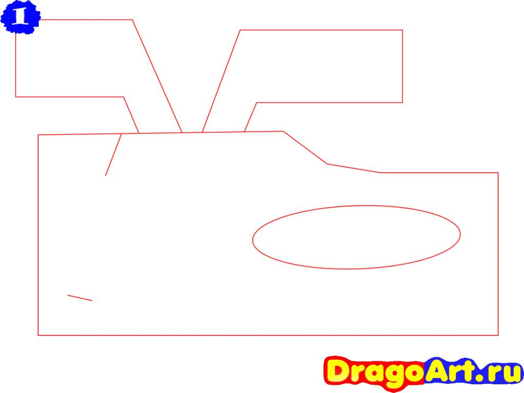 Как нарисовать автомобиль карандашом поэтапно видео