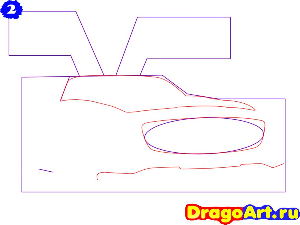 Рисуем Mercedes SLS AMG - шаг 2
