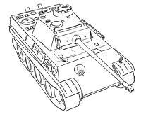 Фото немецкий средний танк Пантера карандашом