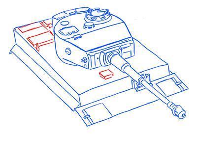 Рисуем немецкий тяжелый танк Тигр из World of Tanks - фото 9