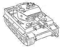 Фото немецкий тяжелый танк Тигр простым карандашом