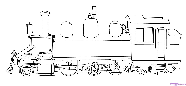 рисунок поезда карандашом: