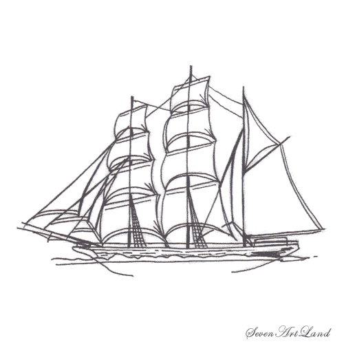 Рисуем парусное судно Бригантина - фото 9