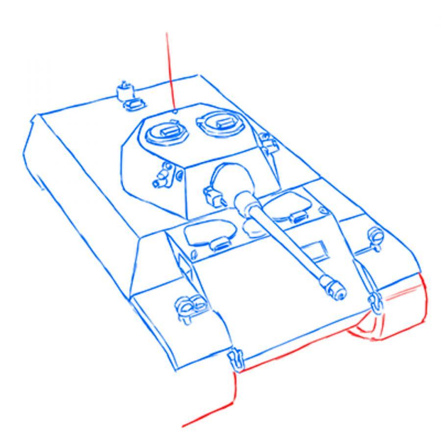 Рисуем разведывательный немецкий танк VK 1602