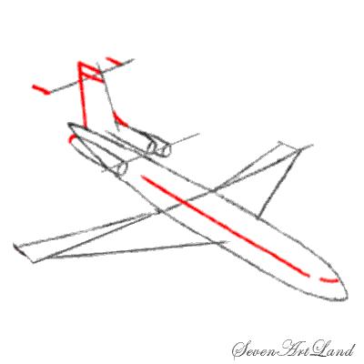 Рисуем самолет Боинг 727 - фото 4