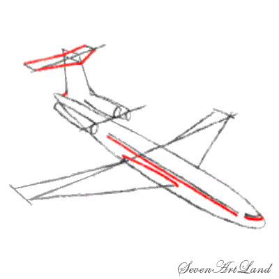 Рисуем самолет Боинг 727 - фото 5