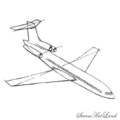 Как нарисовать самолет Боинг