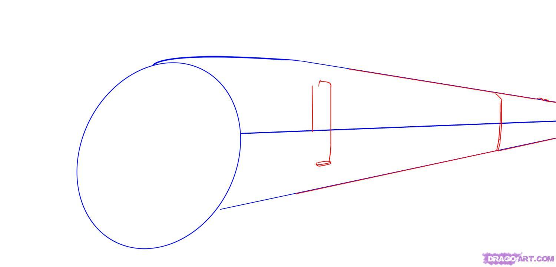 Рисуем скоростной поезд - шаг 2