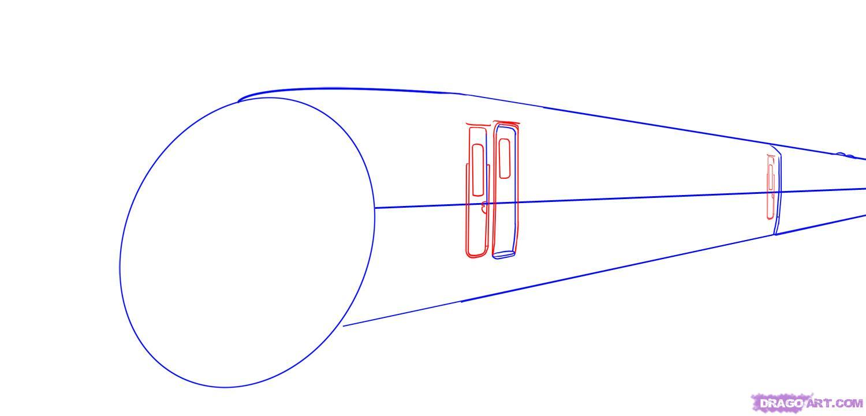 Рисуем скоростной поезд - шаг 3
