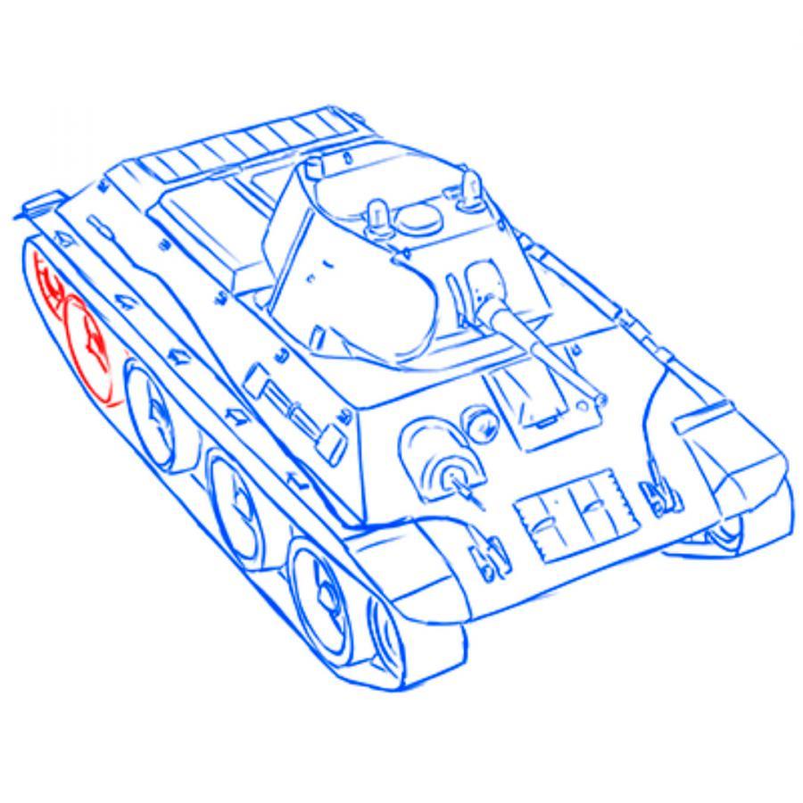 Рисуем советский лёгкий танк А-20