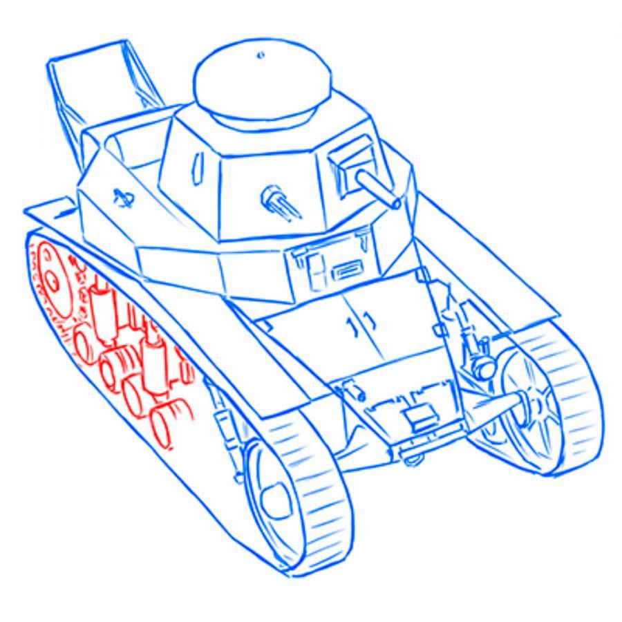 Рисуем советский легкий танк МС-1