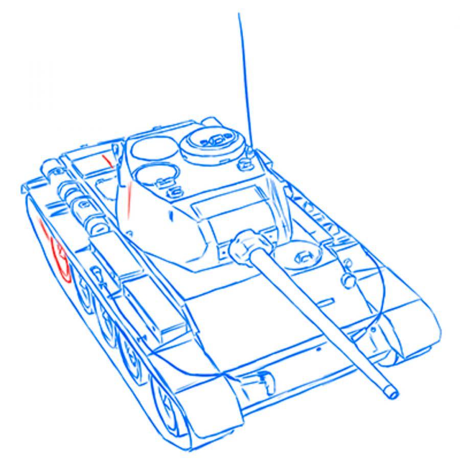Рисуем советский средний танк Т-44