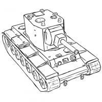 Фото советский тяжёлый танк КВ-2 карандашом