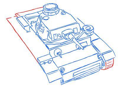 Рисуем средний немецкий танк Pz.Kpfw III простым
