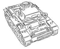 средний немецкий танк Pz.Kpfw III простым карандашом