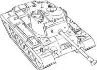 Фото средний танк США M46 простым карандашом