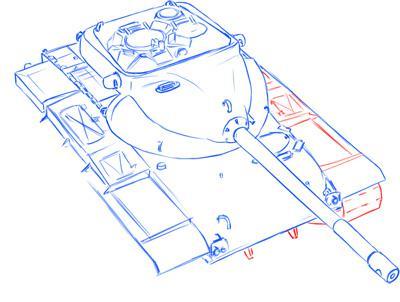 Рисуем средний танк США Т-69 простым