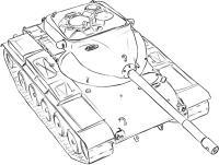 средний танк США Т-69 простым карандашом