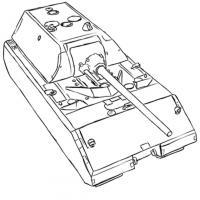 Фото сверхтяжёлый танк Маус простым карандашом