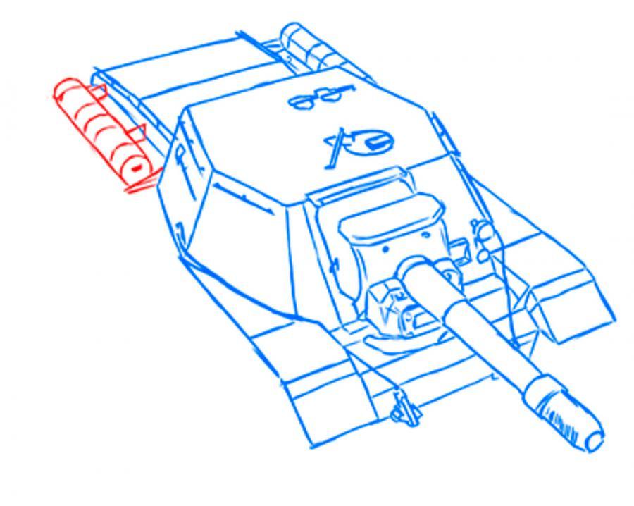Рисуем танк СУ-152