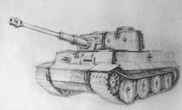 Рисуем танк Тигр - шаг 5