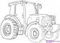 Трактор карандашом