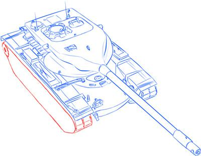 Рисуем тяжёлый американский танк Т-57