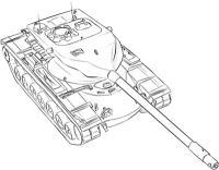 Фото тяжёлый американский танк Т-57 карандашом