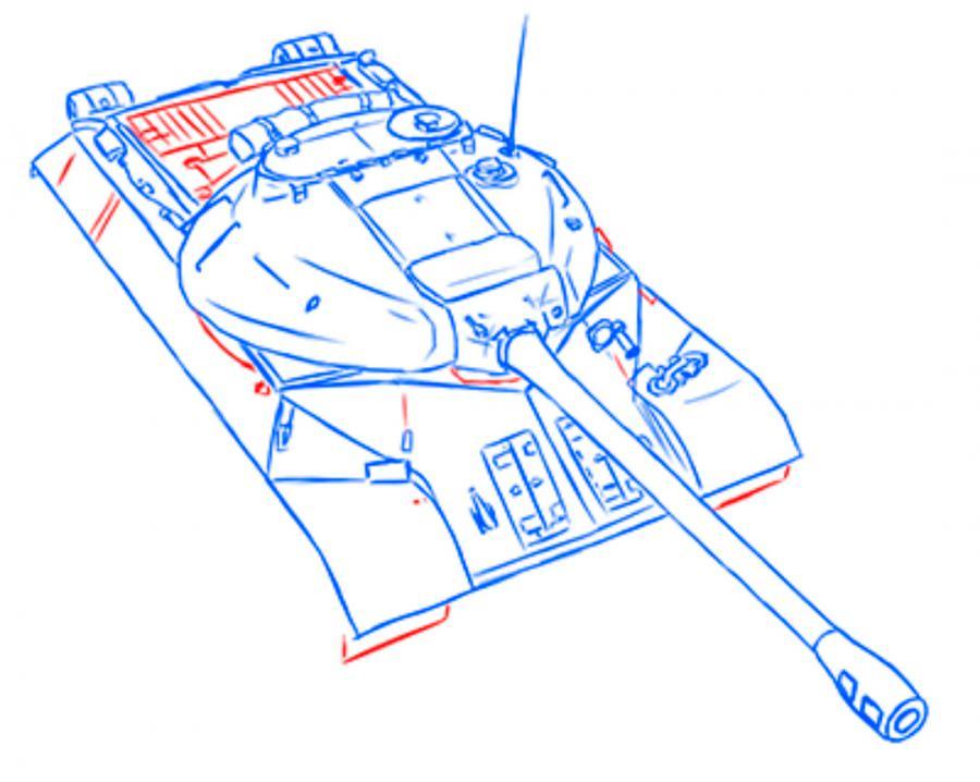 Рисуем тяжёлый танк ИС-3 простым