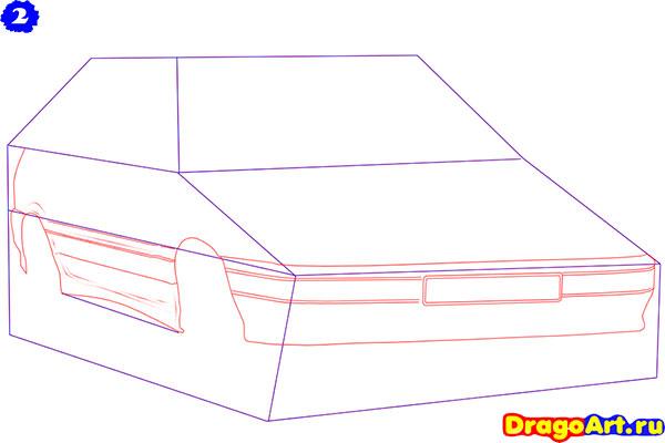 Рисуем Ладу 2113 (ВАЗ 2113)