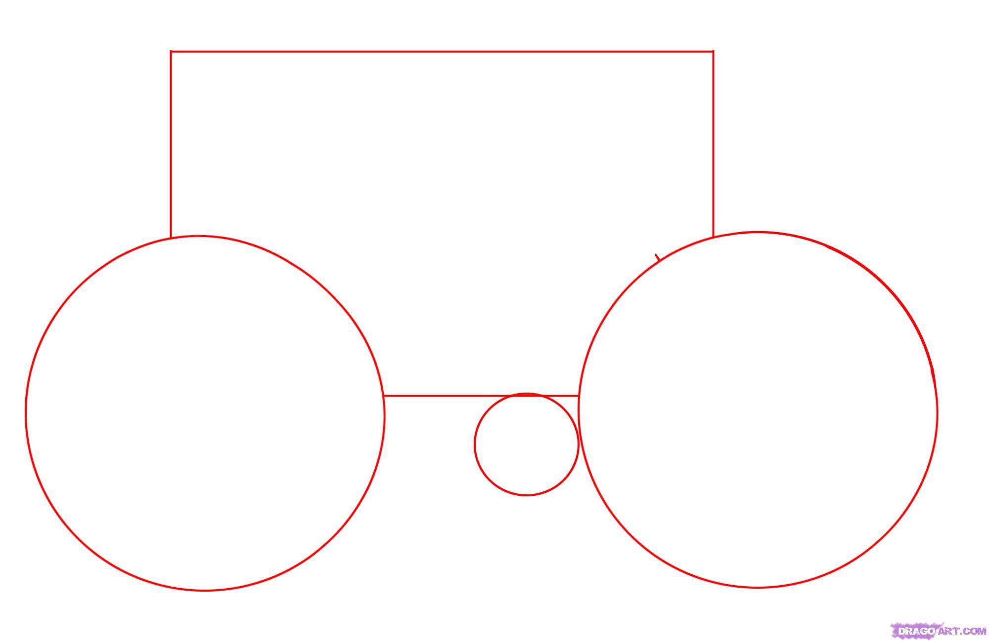 Рисуем велосипед - шаг 1