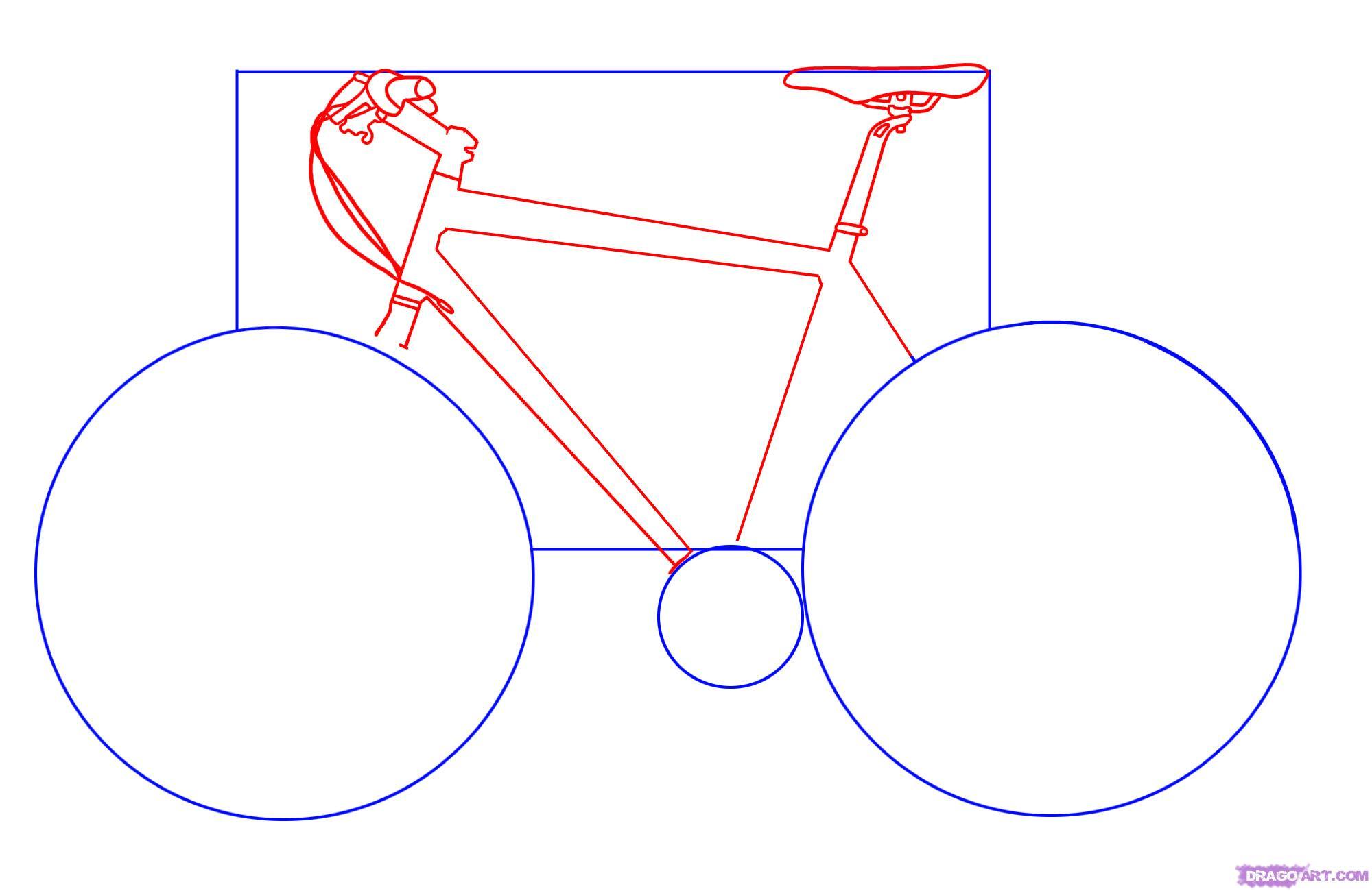 Рисуем велосипед - шаг 2