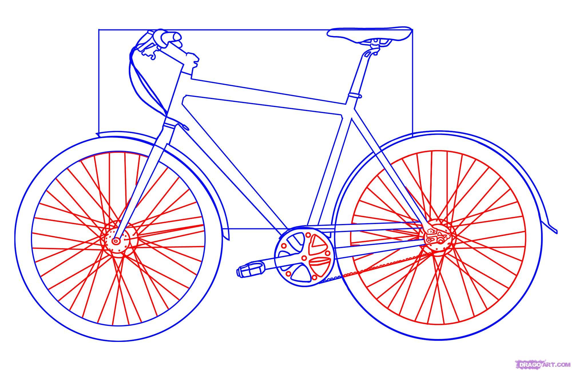 Рисуем велосипед - шаг 4