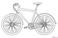 велосипед карандашом