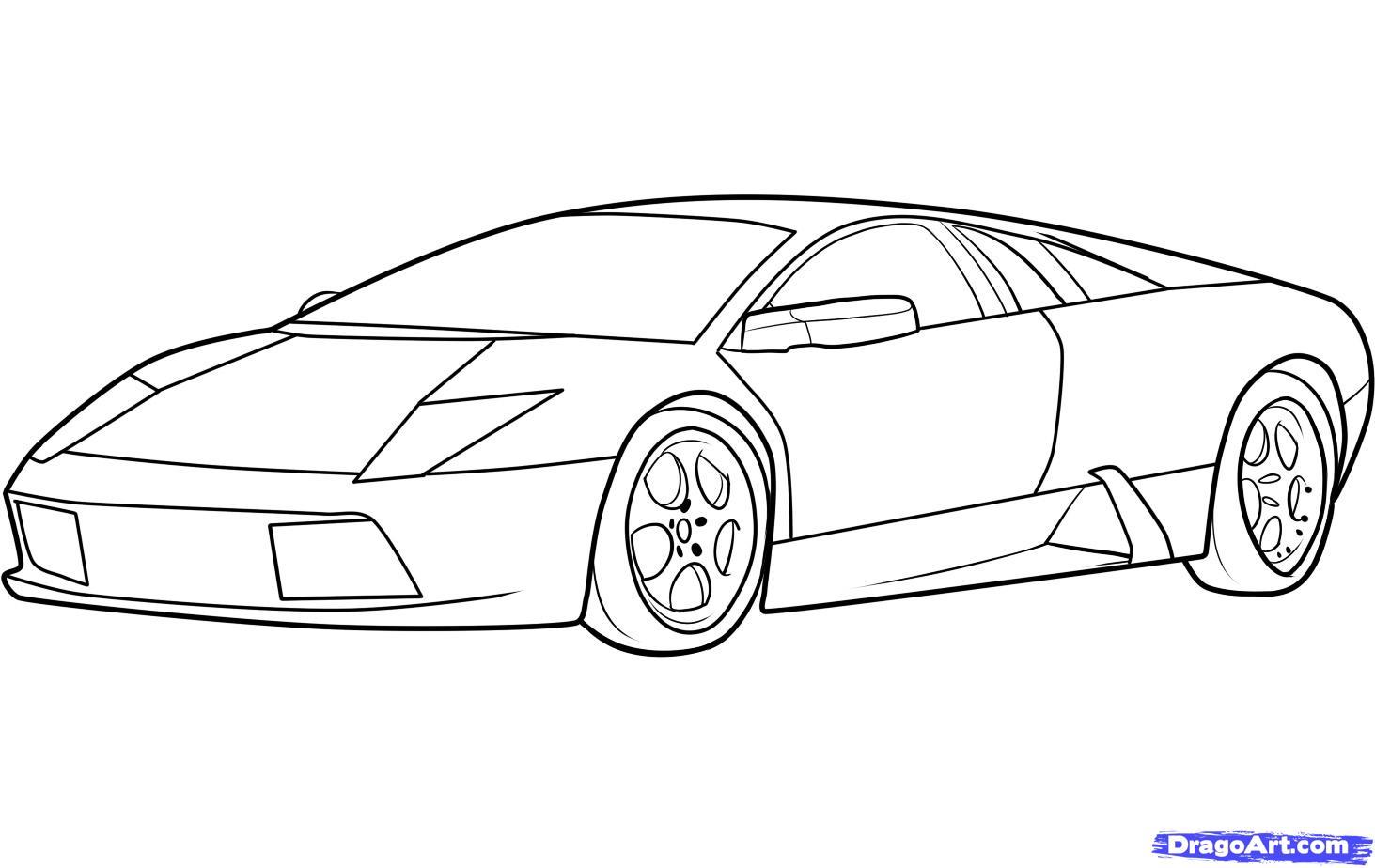 как нарисовать автомобиль lamborghini