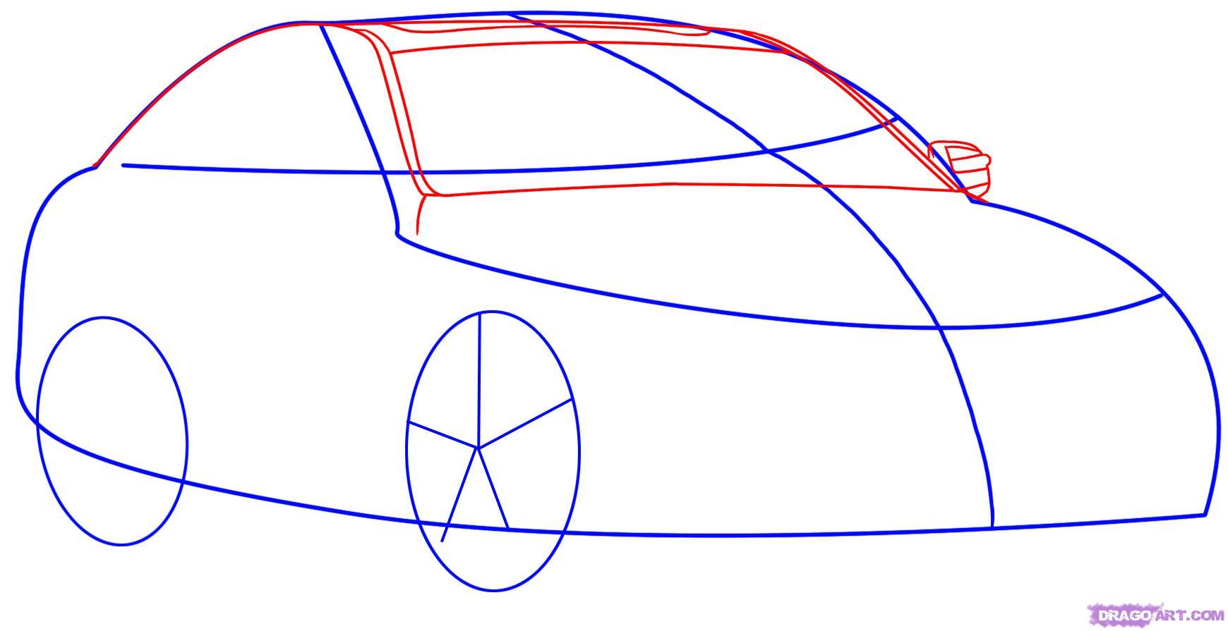 Рисуем автомобиль Mercedes-Benz - шаг 2