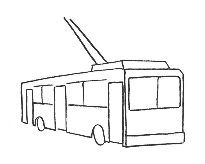 Как нарисовать трамвай ребенку