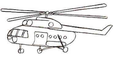 Учимся легко рисовать вертолет - шаг 5