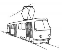 Учимся рисовать  Трамвай