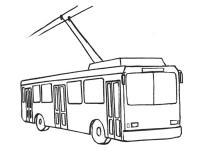 Учимся рисовать Троллейбус