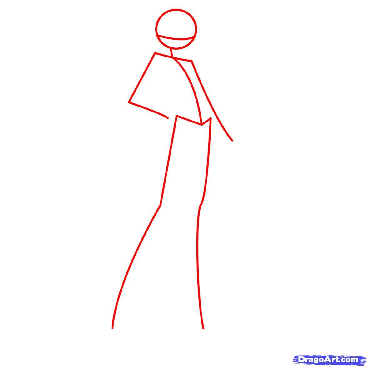 Рисуем фею Лейлу из Винкс - шаг 1