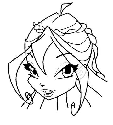 Рисуем лицо Блум в полоборота - шаг 14
