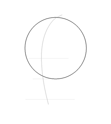 Рисуем лицо Блум в полоборота - шаг 3