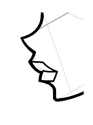 Рисуем лицо Блум в профиль - шаг 12