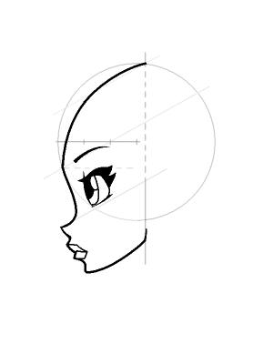 Рисуем лицо Блум в профиль - шаг 13