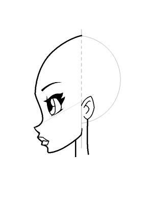 Рисуем лицо Блум в профиль - шаг 15