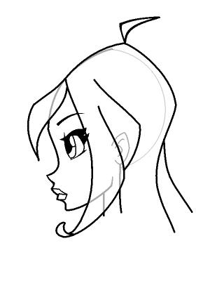 Рисуем лицо Блум в профиль - шаг 17