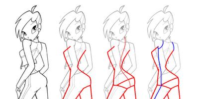 Рисуем Винкс со спины